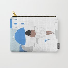 Fashion Girl Wandering the Steps of Santorini, Greece Carry-All Pouch