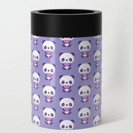 Cute purple baby pandas Can Cooler