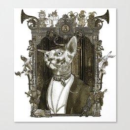 Steampunk Mr. Sphinx Canvas Print