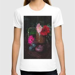 Still life with figs, onions and gerberas T-shirt
