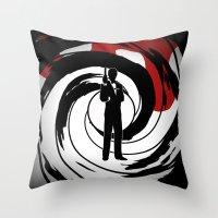 james bond Throw Pillows featuring JAMES BOND by alexa
