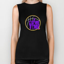 It's Game Time - Purple & Gold Biker Tank