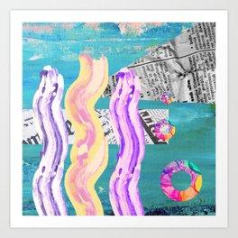 Vibrant Collages Art Print