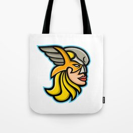 Valkyrie Warrior Mascot Tote Bag