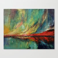 Canvas Prints featuring Aurora by Michael Creese