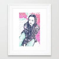 daria Framed Art Prints featuring daria by Andon Georgiev
