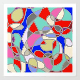 Stain Glass Abstract Meditation Painting 1 Art Print