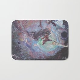 Through the wound of space and time. Bath Mat