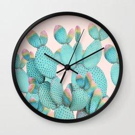 Pastel Cactus Jungle Wall Clock