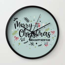 Vintage Christmas New Year Wall Clock