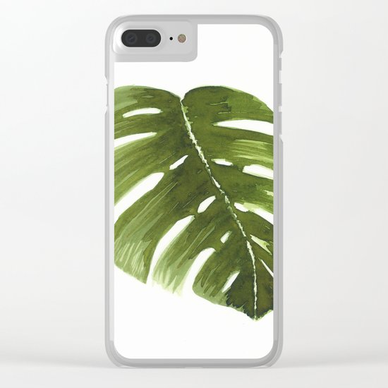 Nature leaves I monstera Clear iPhone Case