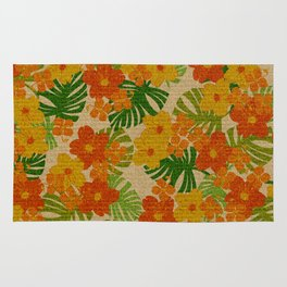 Limahuli Garden Hawaiian Floral Design Rug