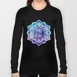 Pura Vida Watercolor Mandala Long Sleeve T-shirt