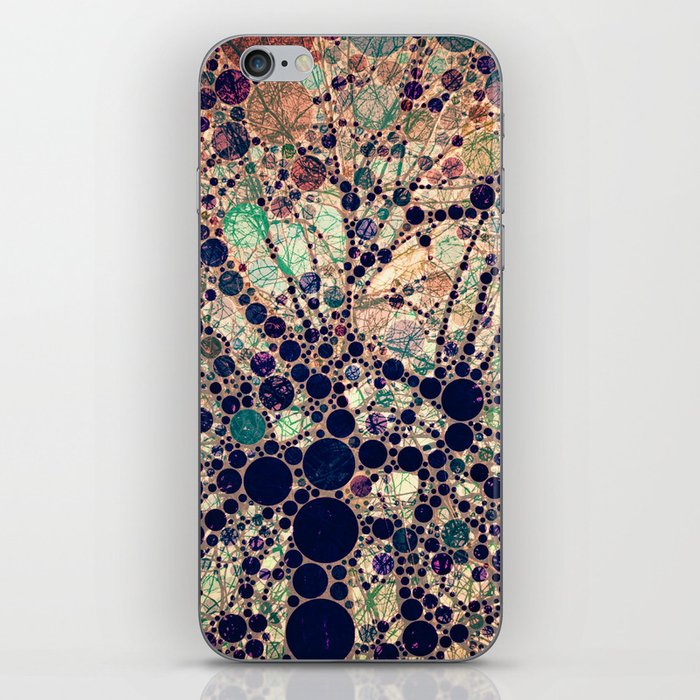 Colorful tree loves you and me. iPhone Skin