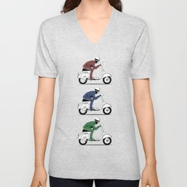 The Vintage Italian Scooter Trio Unisex V-Neck