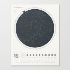 Star Chart Canvas Print