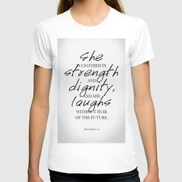 She: Typography T-shirt