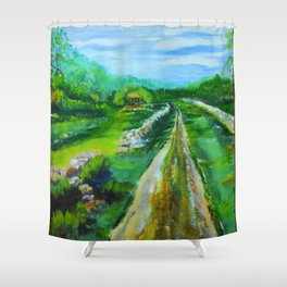 Mrs. Gambels Home Shower Curtain