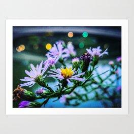 Bow Bridge Flowers - Central Park, NYC Art Print