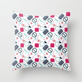 Contraception Pattern Throw Pillow
