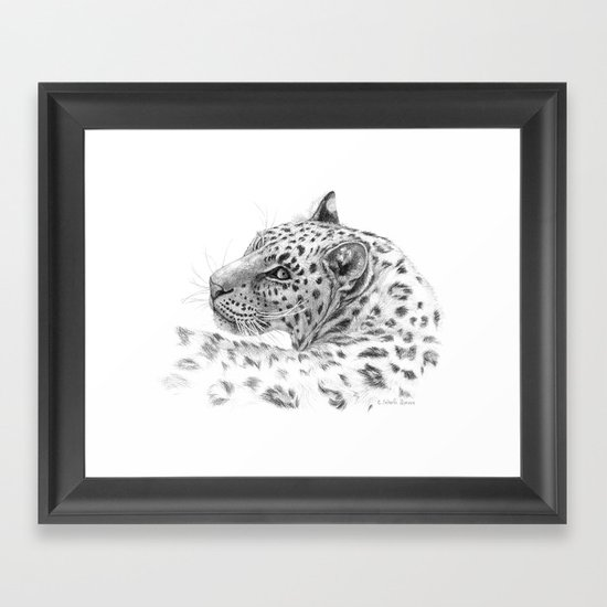Leopard - Glance back Framed Art Print