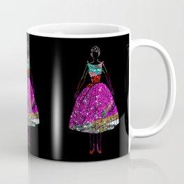 Audrey Pink Glitter Dress Coffee Mug