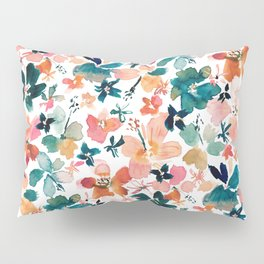 ISLAND TIME Tropical Floral Pillow Sham