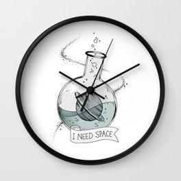 I Need Space Wall Clock