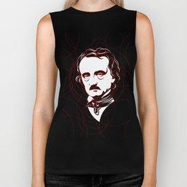 Edgar Allan Poe Circles Portrait Biker Tank