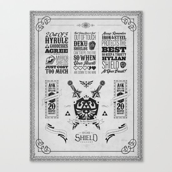 Legend of Zelda - The Hylian Shield Foundry Canvas Print