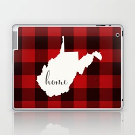 West Virginia is Home - Buffalo Check Plaid Laptop & iPad Skin