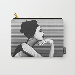 Black and White Female Carry-All Pouch