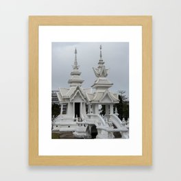 The White Temple - Thailand - 014 Framed Art Print