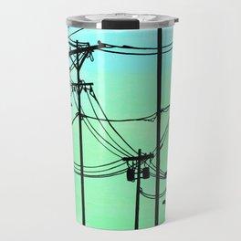 Industrial poles aqua Travel Mug