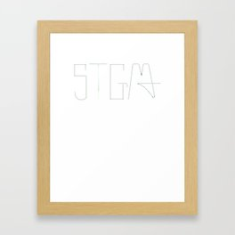 STGMA Logo_Alt. Framed Art Print