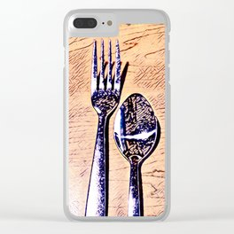 Forks and knives Clear iPhone Case