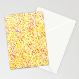 Yellow and Orange Splatter Abstract  Stationery Cards