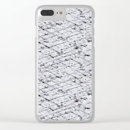 Hornfels 01 - Inky Texture Clear iPhone Case