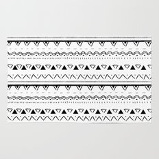 White&Black pattern Rug