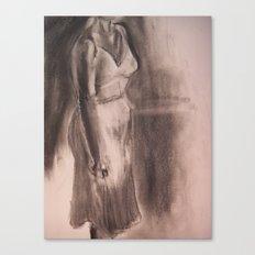 One White Dress Canvas Print