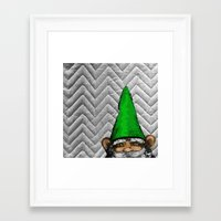 gnome Framed Art Prints featuring Gnome by FeralEva