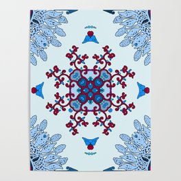 blue and red pattern Poster