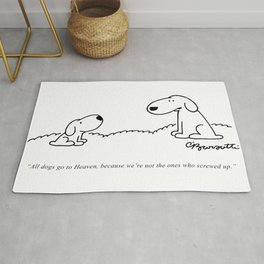 Barsotti, All dogs Go To Heaven Artwork, for Wall Art, Prints, Tshirts, Men, Women, Youth Rug