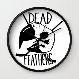 DEAD FEATHERS CREST Wall Clock