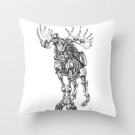 Motor Moose Throw Pillow