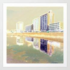 Oceanfront Reflections Art Print