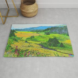 Alaska's Kenai Peninsula - Watercolor Rug