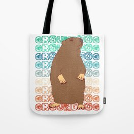 "Groundhog Design Animal Lover ""Groundhog Groundhog"" T-shirt Design Nuisance Pest On Garden Field  Tote Bag"