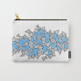 Triangles and Tessellation in Blue Carry-All Pouch