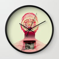 chill Wall Clocks featuring Chill by Pame Pinto Rojas